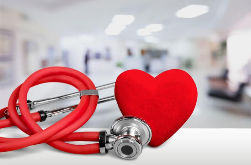 Heart figure with a stethoscope