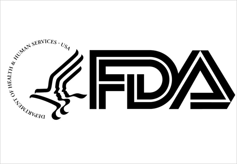 FDA Logo in black letters with white background