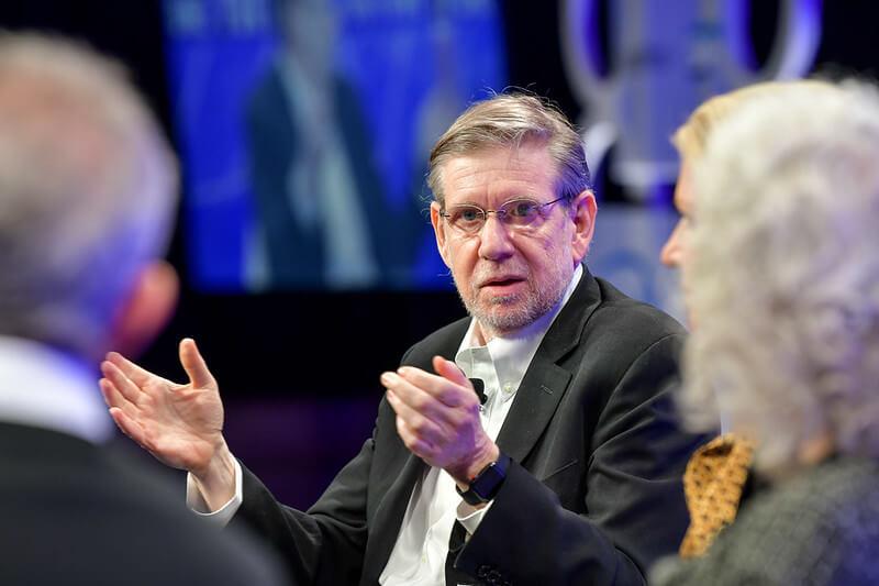 David Kessler, MD, speaking on a conference