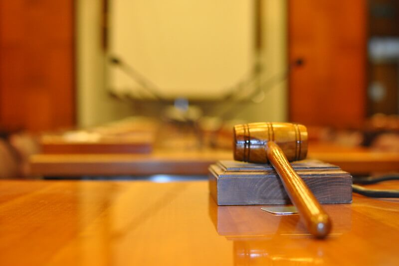 Photo of a gavel inside the court