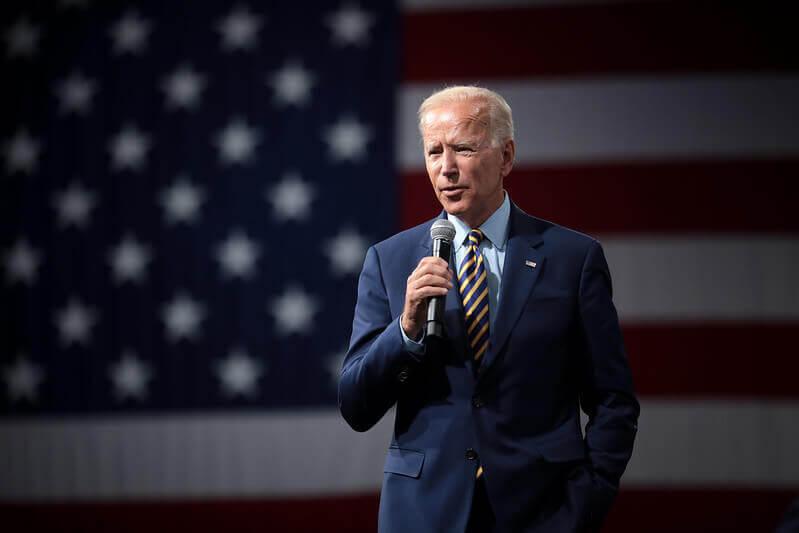 Joe Biden speaking in public