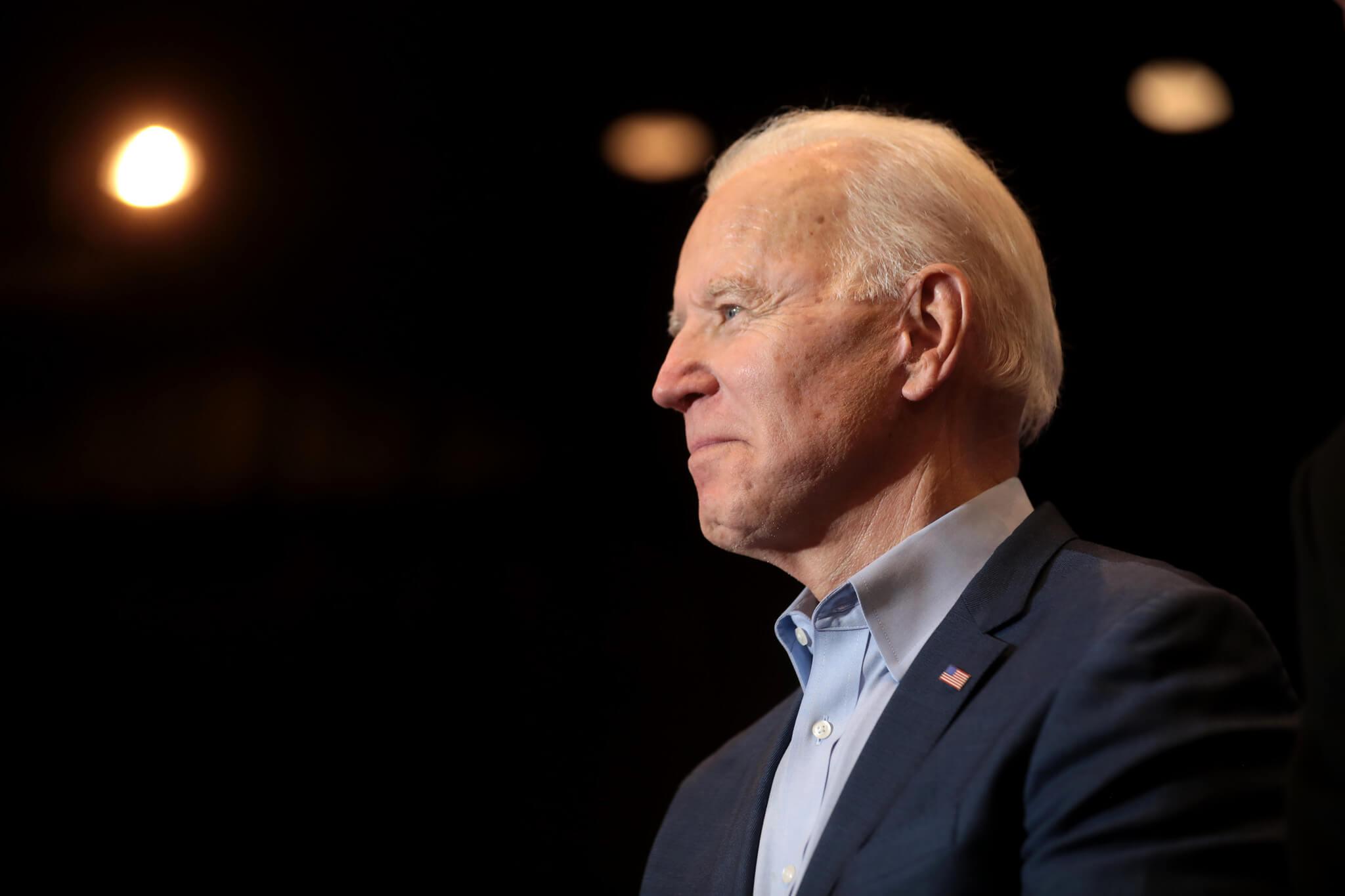 Photo of President Biden on the stage