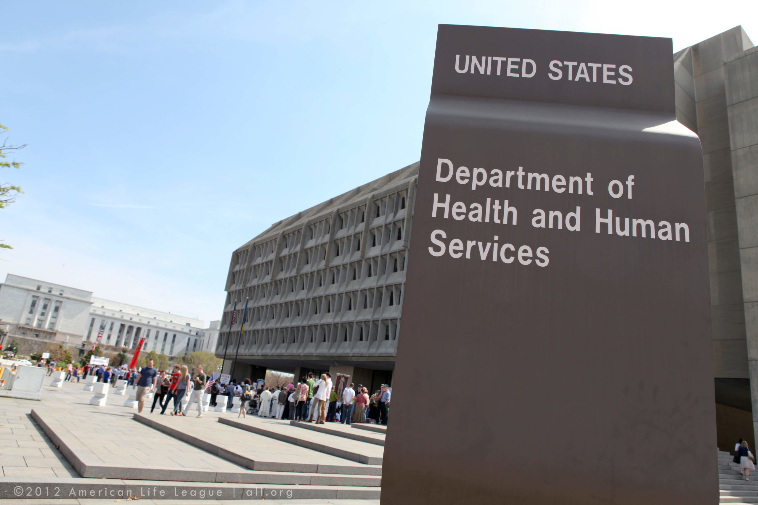 Signage of U.S. Department of Health and Human Services