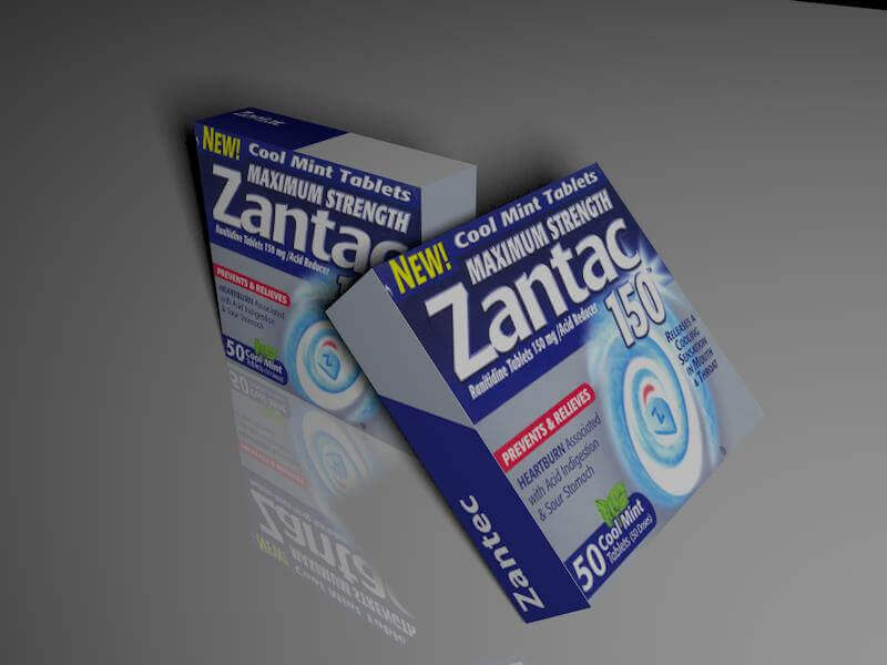 Photo of two boxes of Zantac tablets