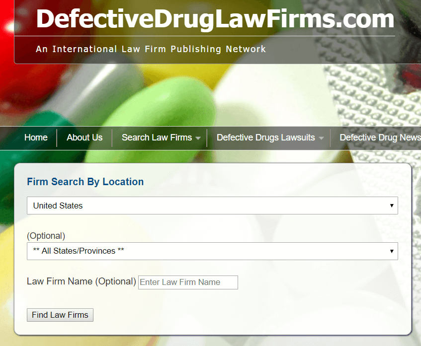 defective drug law firms