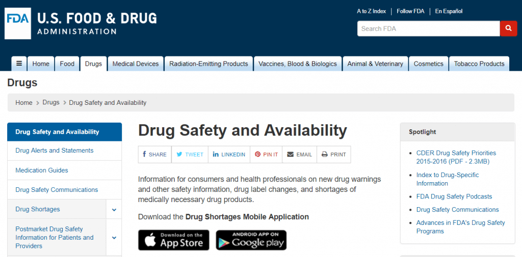 fda drug safety