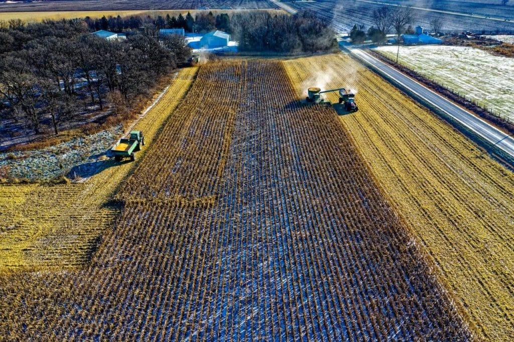 Tractor in a farm