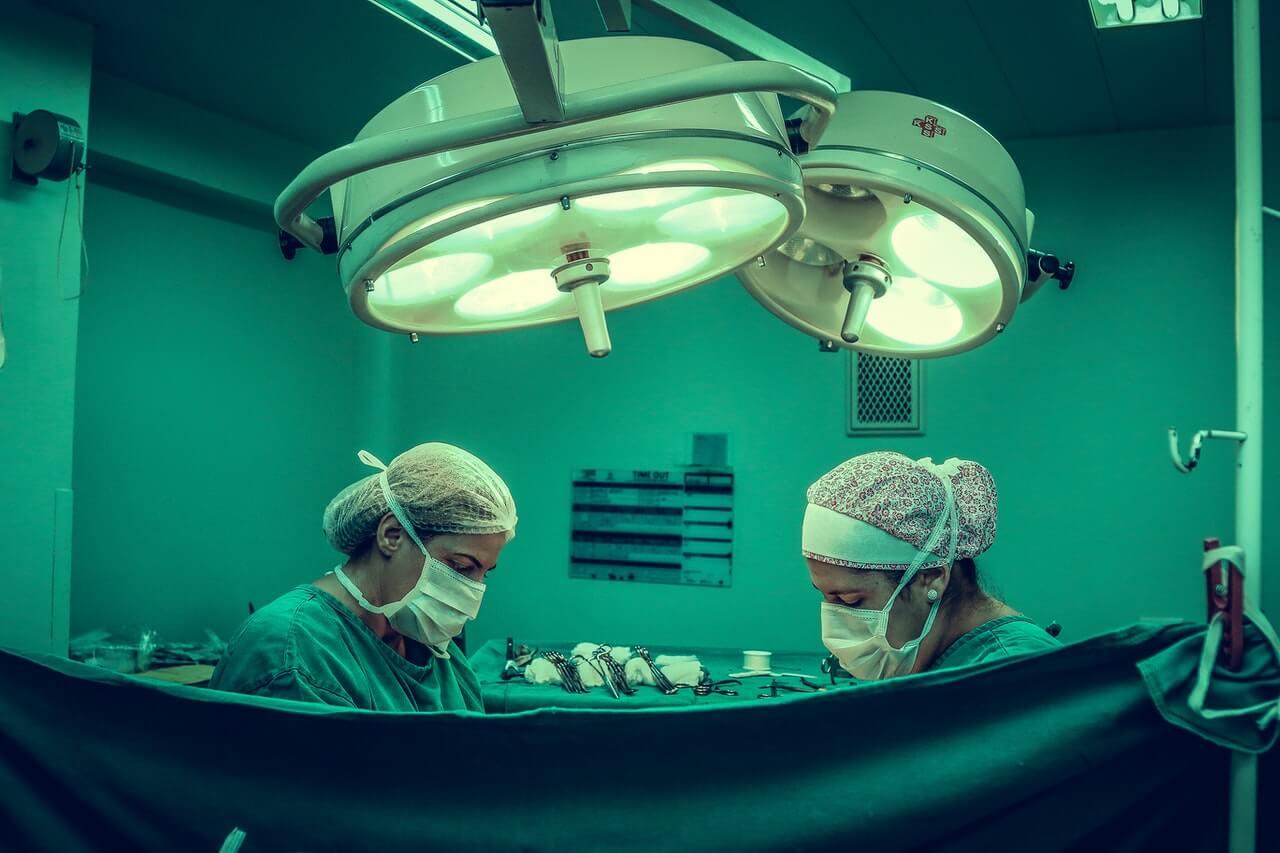 Surgeons at an operating room
