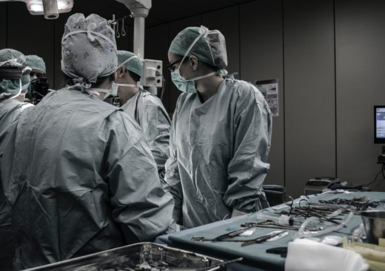 Doctors inside an operating room