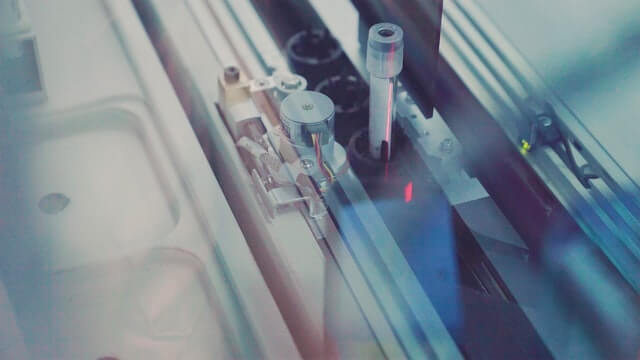 Vial in the manufacturing process