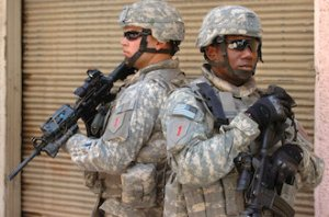 U.S. Army Soldiers with the 4th Brigade, 1st Infantry Division