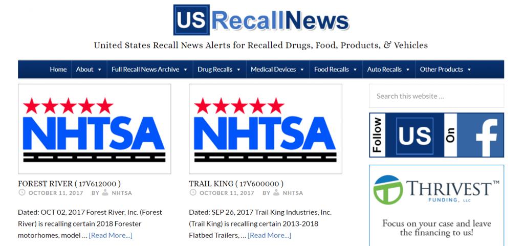us recall news